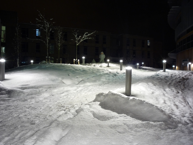 Snowman outside the Berrick Saul building