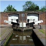 SJ9214 : Penkridge Lock and Bridge, Staffordshire by Roger  Kidd
