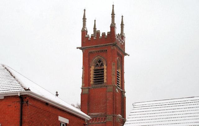 Tower, Belmont Presbyterian church, Belfast (2)