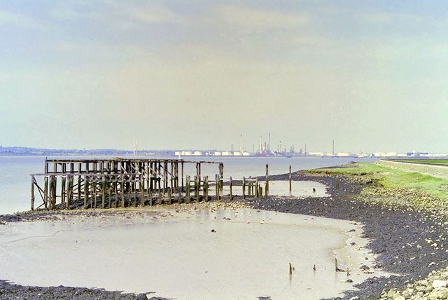 Mysterious old jetty, Cliffe Marshes, 1998