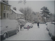 TQ3370 : Fox Hill in the snow by Christopher Hilton