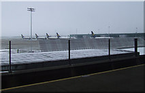 TL5523 : Snow at Stansted Airport by Thomas Nugent