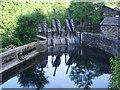 SD3584 : Sluice gates on the River Leven by Alexander P Kapp