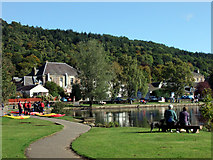 NN6207 : Kayakers at the Meadows, Callander by Sheila Winstone