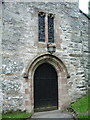 SD3785 : St Mary's Church, Staveley-in-Cartmel, Doorway by Alexander P Kapp