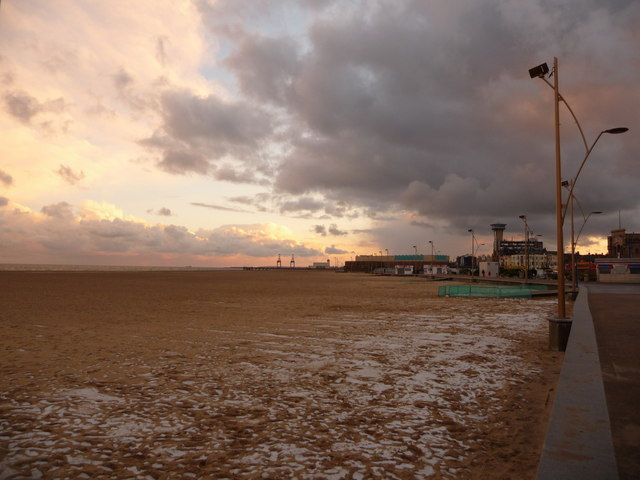 Great Yarmouth: view south from Britannia Pier