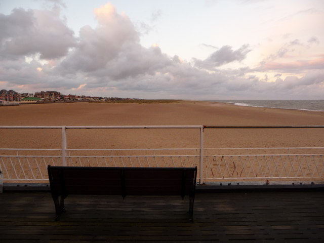 Great Yarmouth: view north from Britannia Pier