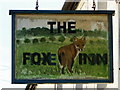 NY6134 : Sign for the Fox Inn by Maigheach-gheal