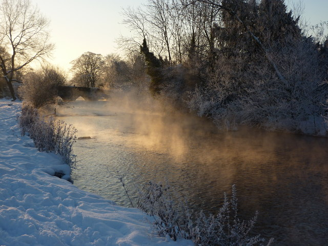 Morning mist on the river