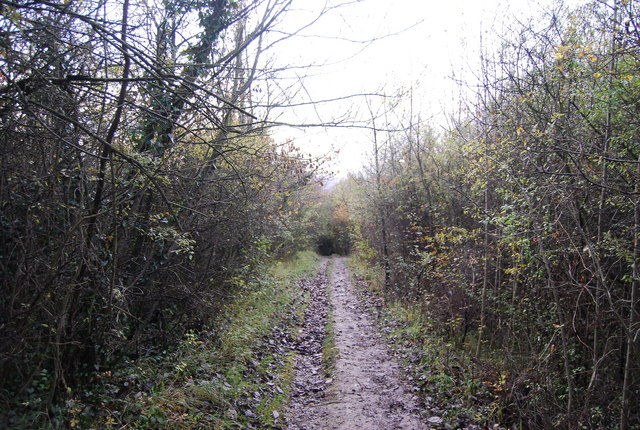 A muddy North Downs Way, Otford Mount