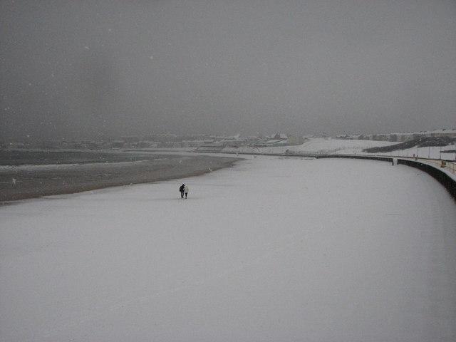 Snow Covered Beach Portrush