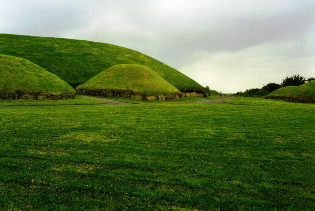 Satellite tombs next to the main burial mound at Knowth