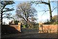 SP1874 : Gates to Norton Grange by Robin Stott
