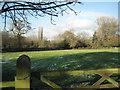 SP1874 : Mown grass field by Baker's Lane by Robin Stott