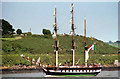 """S7010 : The """"Jeanie Johnston"""" in the River Suir by Albert Bridge"""