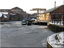 SK7953 : Newark: frozen Trent by John Sutton