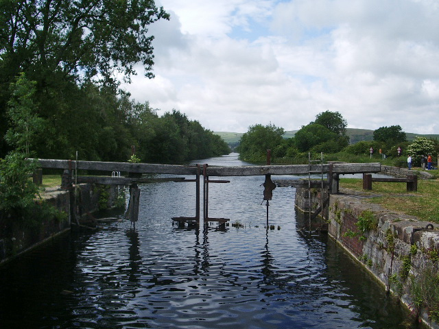 The remains of the lock gate on the Ulverston Canal