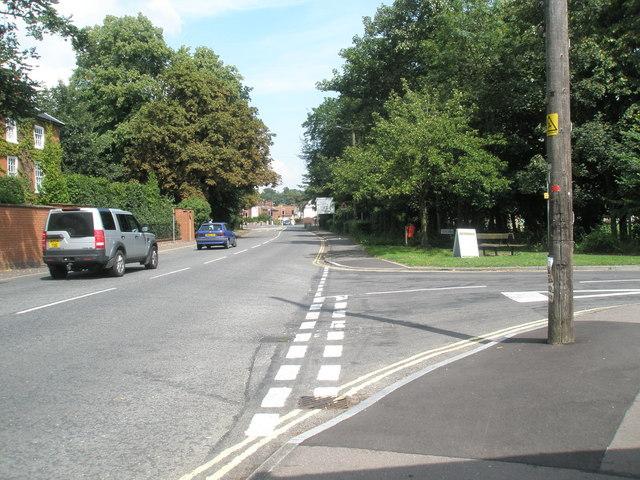 Junction of Dock Lane and  Melton Hill