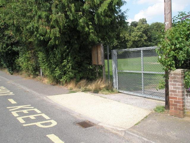Gate in Dock Lane