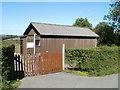 ST3794 : BT hut west of Tredunnock by Jaggery