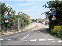 TM2850 : Road signs in Dock Lane by Basher Eyre