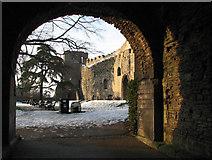 SK7954 : Newark Castle: gatehouse and curtain wall by John Sutton