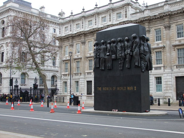 Memorial to the women who served in World War II  Whitehall, London
