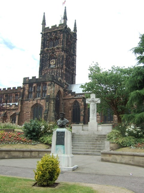 St Peter's church and the Harris memorial
