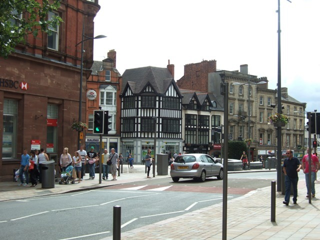 Queen's Square from Lichfield Street.