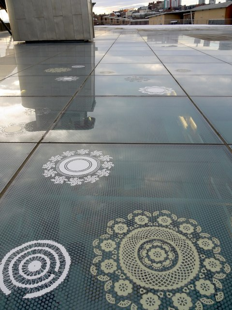 On the roof, National Glass Centre
