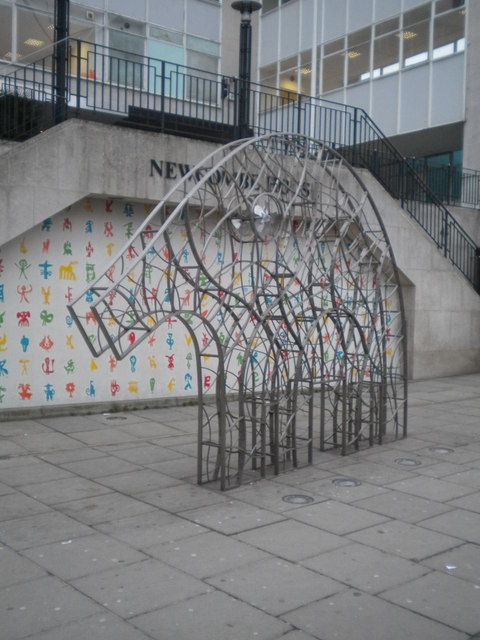 Elephant sculpture outside Newcombe House, Notting Hill Gate W11