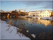 NT5173 : East Lothian Townscape : The River Tyne at Nungate Bridge, Haddington by Richard West