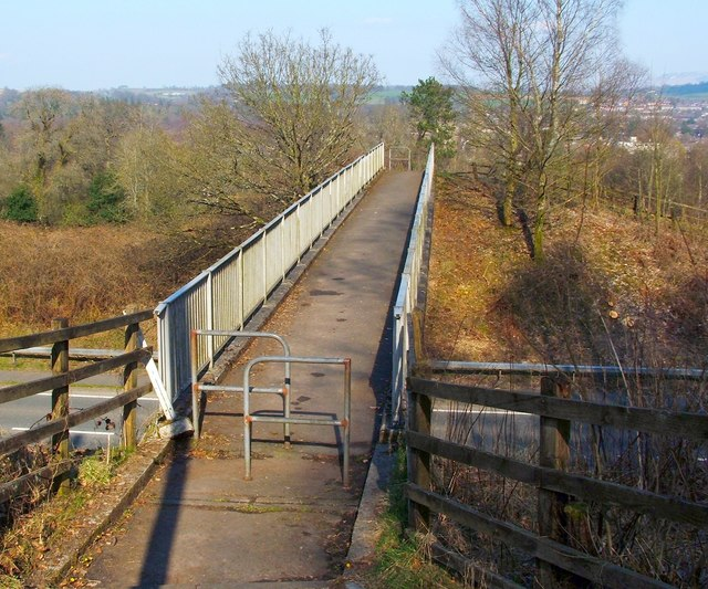 Footbridge over the A82