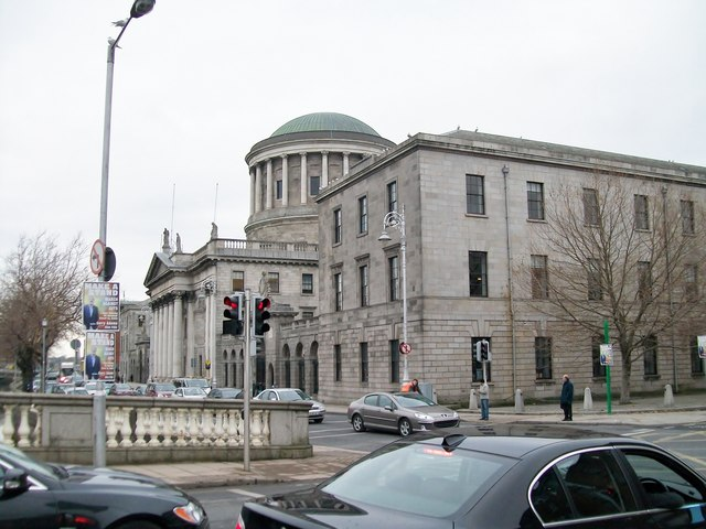 The Four Courts from O'Donovan Rossa Bridge