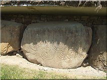 N9973 : Megalithic carved stone at Knowth by John M