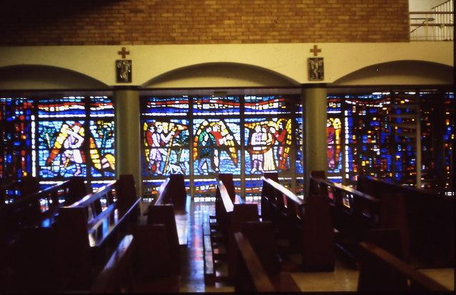St Raphaels Catholic Church, Millbrook - stained glass