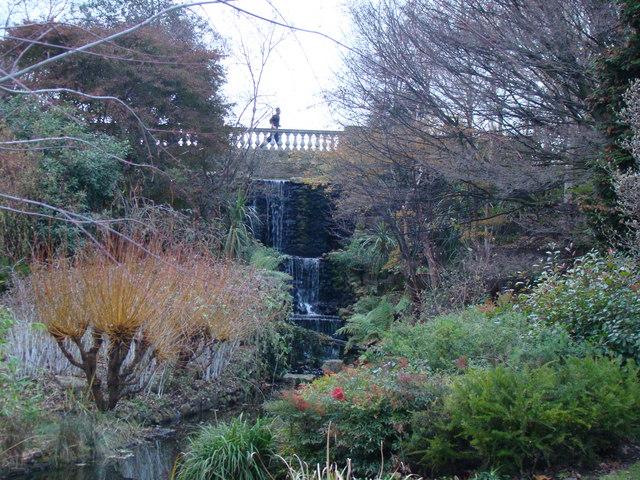 Waterfall near the Serpentine in Hyde Park
