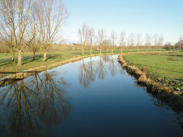Reflections in the River Waveney at Mendham Bridge