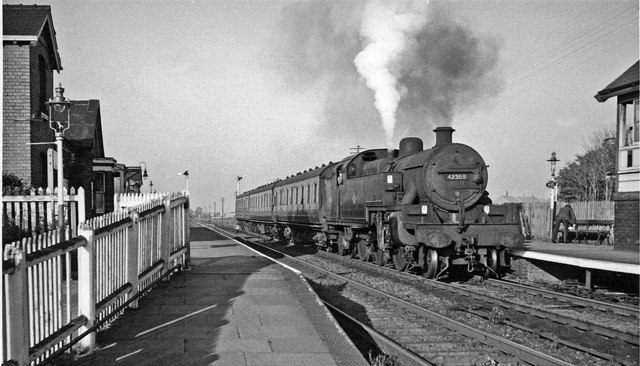 Banks Station, with Preston - Southport train