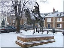 SP4540 : O ride a cock horse to Banbury Cross.... by Richard Humphrey