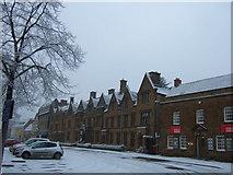 SP4540 : Buildings on the Horsefair, Banbury Cross by Richard Humphrey