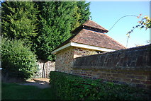 TQ8224 : Turret like structure by the Sussex Border Path, entering Northiam by N Chadwick