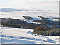 NY8645 : Eastend Reservoir in the snow by Mike Quinn