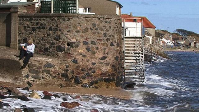 Coastal walls, Lower Largo, Fife
