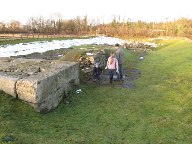 Ruins of Piercebridge Roman bridge