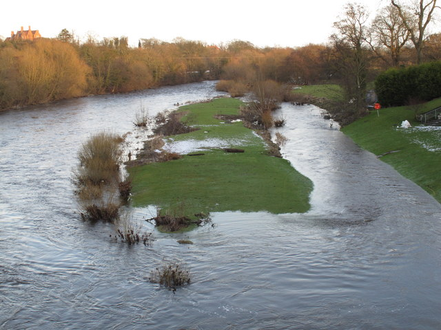 River Tees high from melting snow