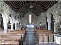 SW4538 : Interior of Zennor Church by Philip Halling