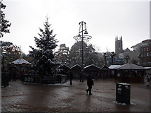 SZ0891 : Bournemouth: Christmas tree in the snow by Chris Downer