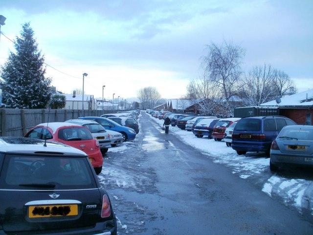 Hospital overflow car park, Mendalgief Road, Newport by Jaggery