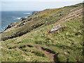 SW4237 : Coastline near Portmeor by Philip Halling